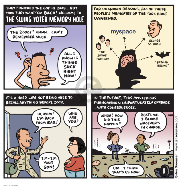 Jen Sorensen  Jen Sorensen's Editorial Cartoons 2016-12-26 2016 election Jeb Bush