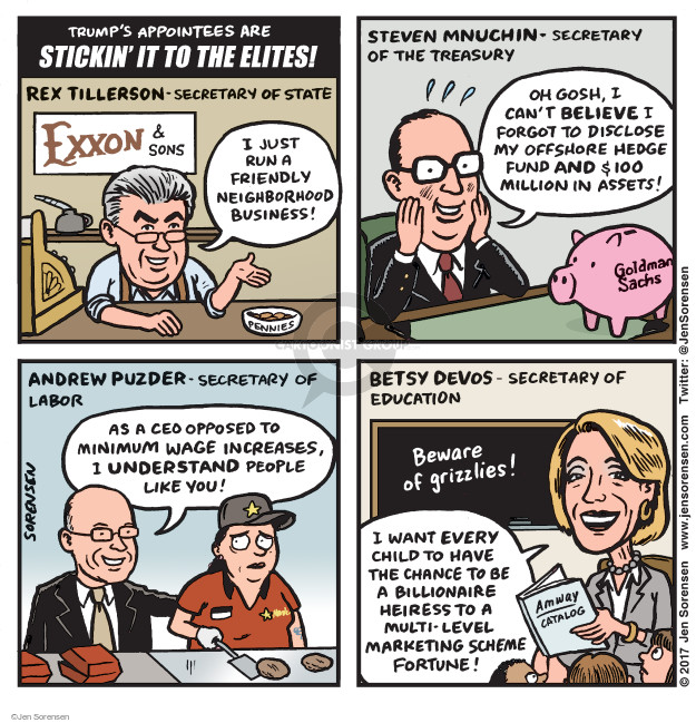 Cartoonist Jen Sorensen  Jen Sorensen's Editorial Cartoons 2017-01-23 state politician