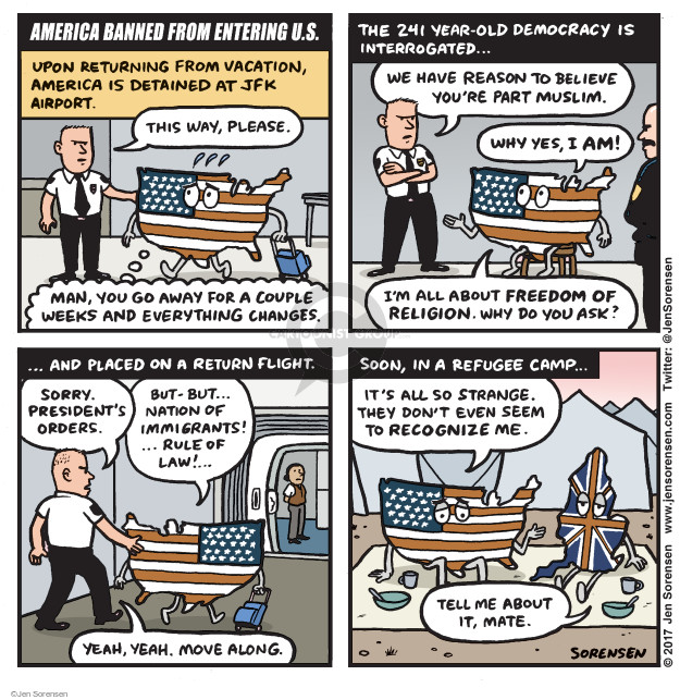 Jen Sorensen  Jen Sorensen's Editorial Cartoons 2017-01-30 rule of law