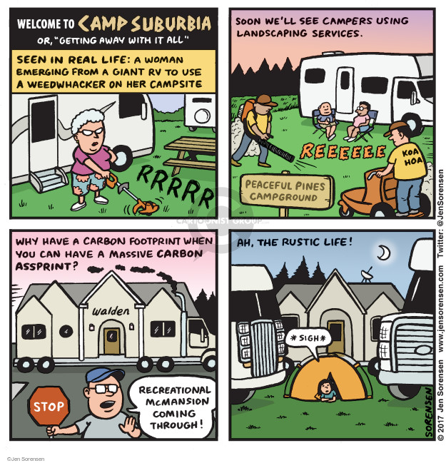 Cartoonist Jen Sorensen  Jen Sorensen's Editorial Cartoons 2017-07-10 camp