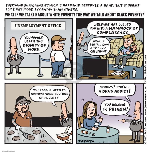 Cartoonist Jen Sorensen  Jen Sorensen's Editorial Cartoons 2017-09-18 race