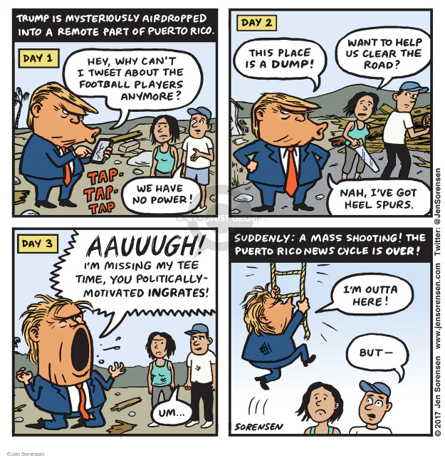 Cartoonist Jen Sorensen  Jen Sorensen's Editorial Cartoons 2017-10-02 presidential