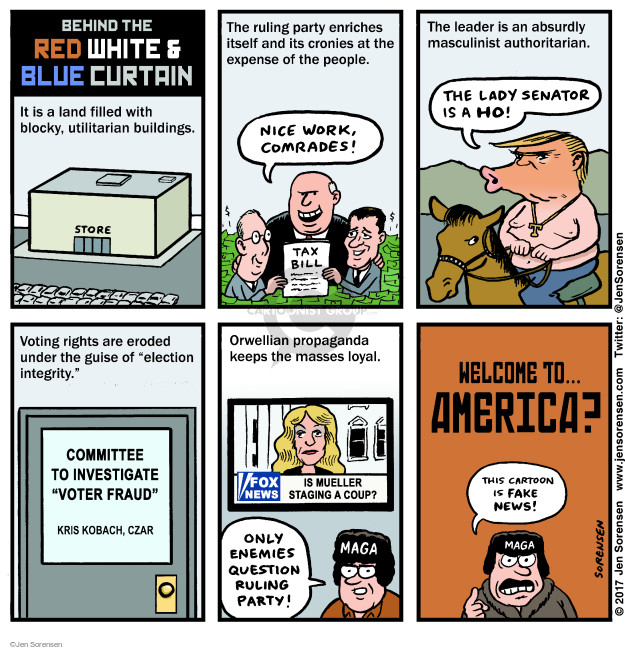 Cartoonist Jen Sorensen  Jen Sorensen's Editorial Cartoons 2017-12-25 presidential