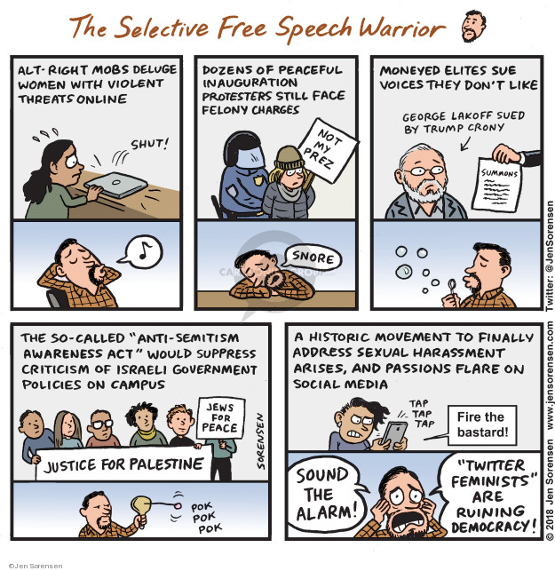 Jen Sorensen  Jen Sorensen's Editorial Cartoons 2018-02-12 act