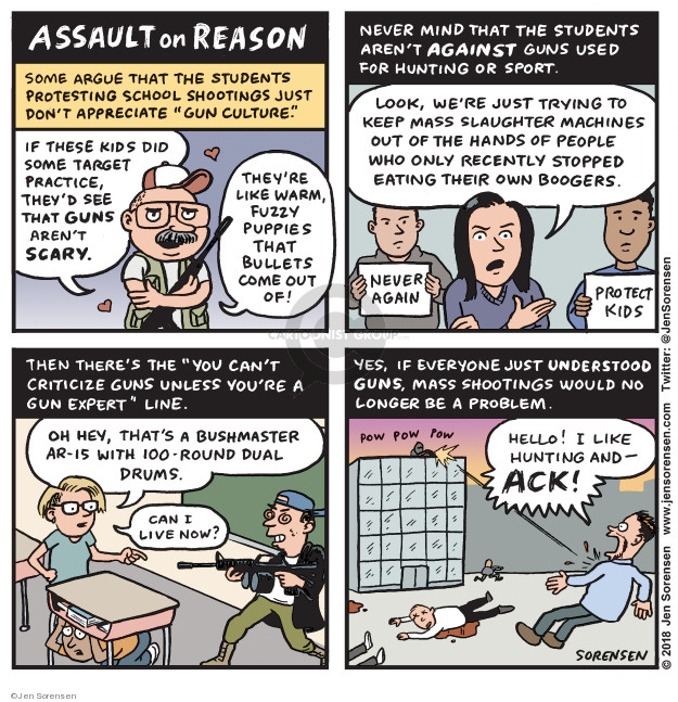Jen Sorensen  Jen Sorensen's Editorial Cartoons 2018-03-19 assault weapon