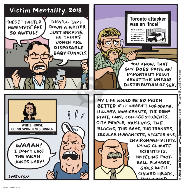 Cartoonist Jen Sorensen  Jen Sorensen's Editorial Cartoons 2018-05-08 feminism