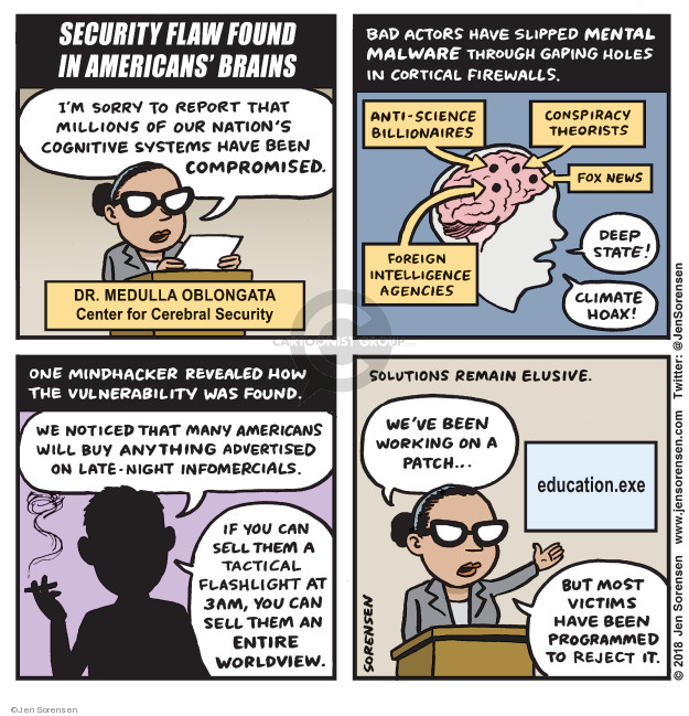 Cartoonist Jen Sorensen  Jen Sorensen's Editorial Cartoons 2018-05-28 security system