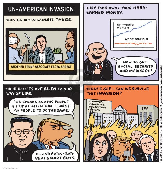 Jen Sorensen  Jen Sorensen's Editorial Cartoons 2018-06-25 Vladimir Putin
