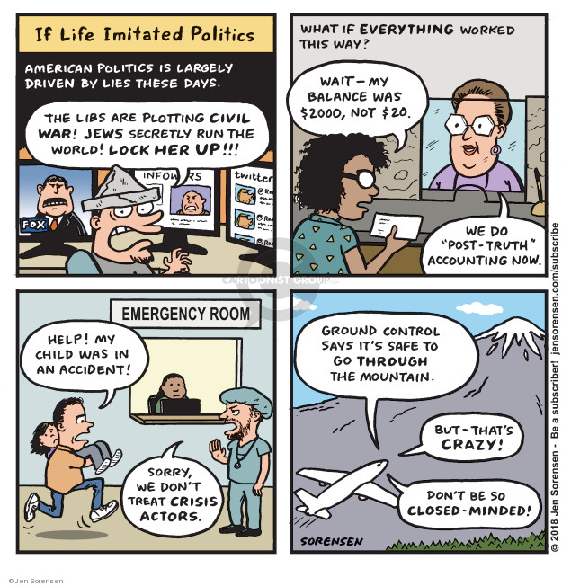 Jen Sorensen  Jen Sorensen's Editorial Cartoons 2018-07-09 $2,000