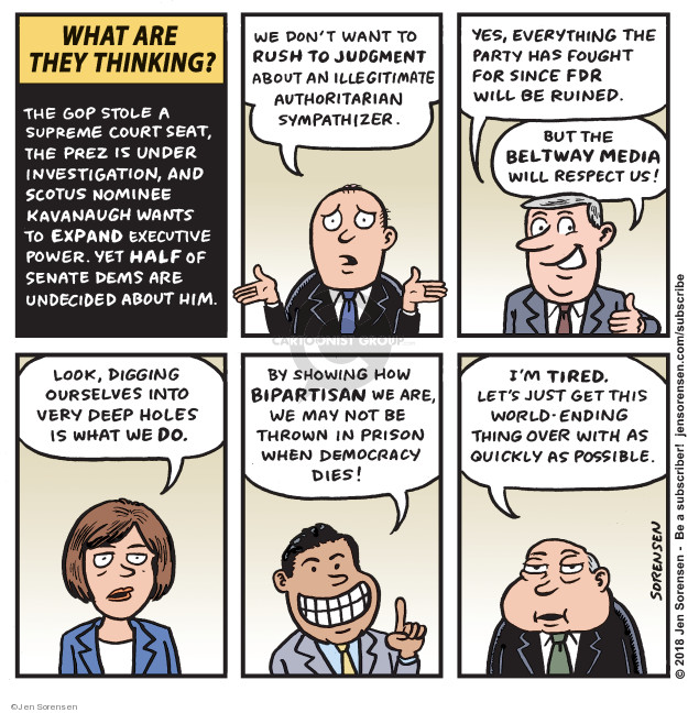 Cartoonist Jen Sorensen  Jen Sorensen's Editorial Cartoons 2018-09-03 scotus