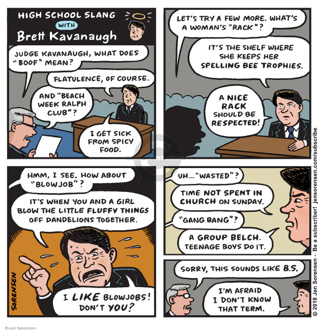 Jen Sorensen  Jen Sorensen's Editorial Cartoons 2018-10-01 woman