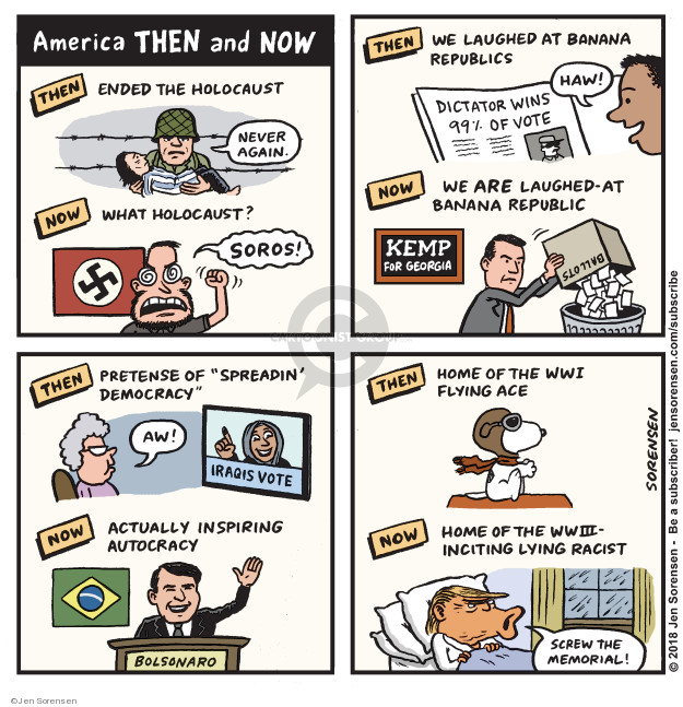 Cartoonist Jen Sorensen  Jen Sorensen's Editorial Cartoons 2018-11-12 death