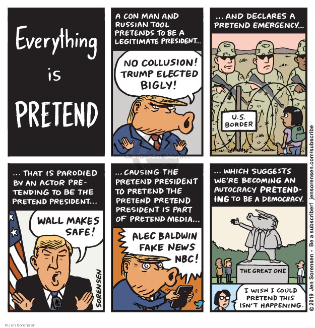 Cartoonist Jen Sorensen  Jen Sorensen's Editorial Cartoons 2019-02-18 presidential