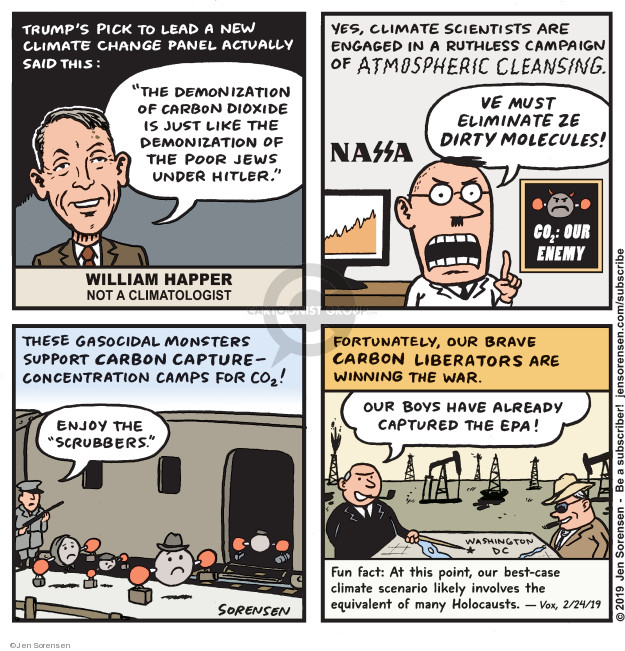 Jen Sorensen  Jen Sorensen's Editorial Cartoons 2019-02-25 climate change science