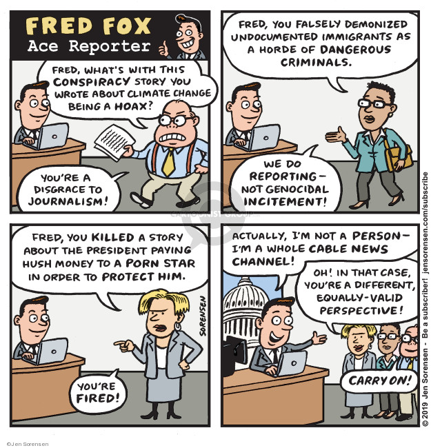 Cartoonist Jen Sorensen  Jen Sorensen's Editorial Cartoons 2019-03-27 channel