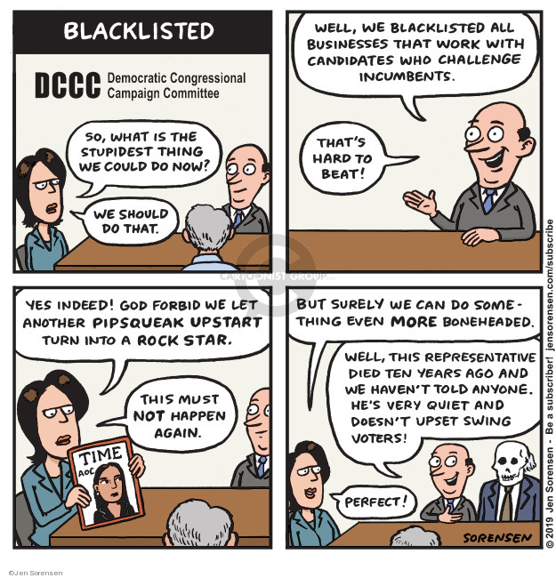 Cartoonist Jen Sorensen  Jen Sorensen's Editorial Cartoons 2019-04-08 democratic