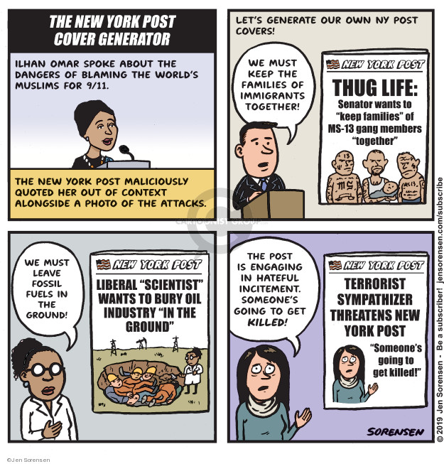 Jen Sorensen  Jen Sorensen's Editorial Cartoons 2019-04-16 media