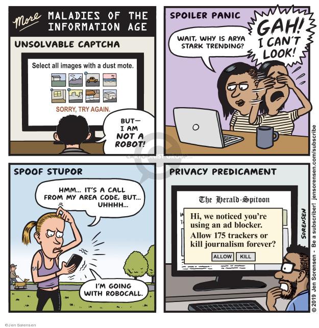 Cartoonist Jen Sorensen  Jen Sorensen's Editorial Cartoons 2019-04-29 life