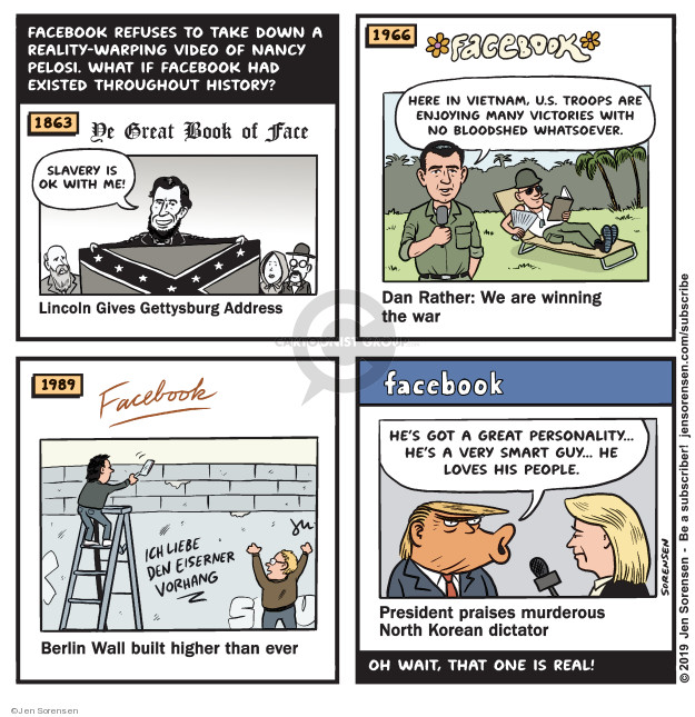 Cartoonist Jen Sorensen  Jen Sorensen's Editorial Cartoons 2019-05-27 misinformation