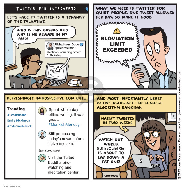 Cartoonist Jen Sorensen  Jen Sorensen's Editorial Cartoons 2019-06-03 online news