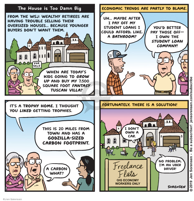 Cartoonist Jen Sorensen  Jen Sorensen's Editorial Cartoons 2019-06-17 financial