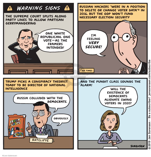 Jen Sorensen  Jen Sorensen's Editorial Cartoons 2019-07-29 2016 Election Russian Interference