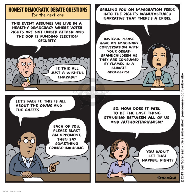 Jen Sorensen  Jen Sorensen's Editorial Cartoons 2019-09-17 2020 election