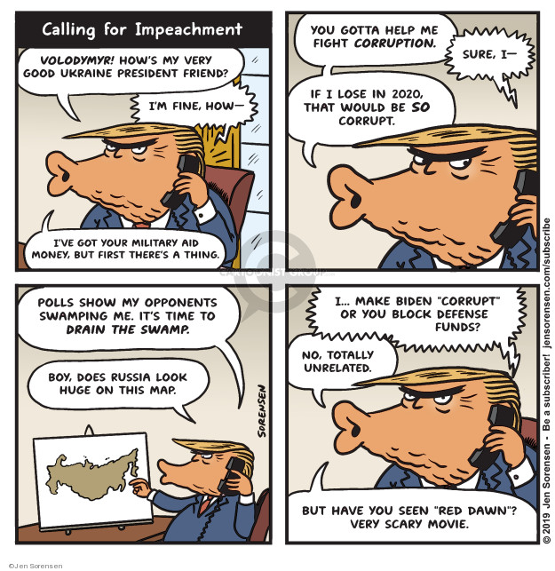 Cartoonist Jen Sorensen  Jen Sorensen's Editorial Cartoons 2019-09-23 presidential impeachment