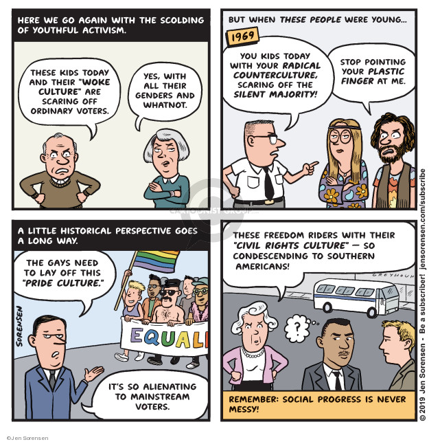 Cartoonist Jen Sorensen  Jen Sorensen's Editorial Cartoons 2019-11-11 stop