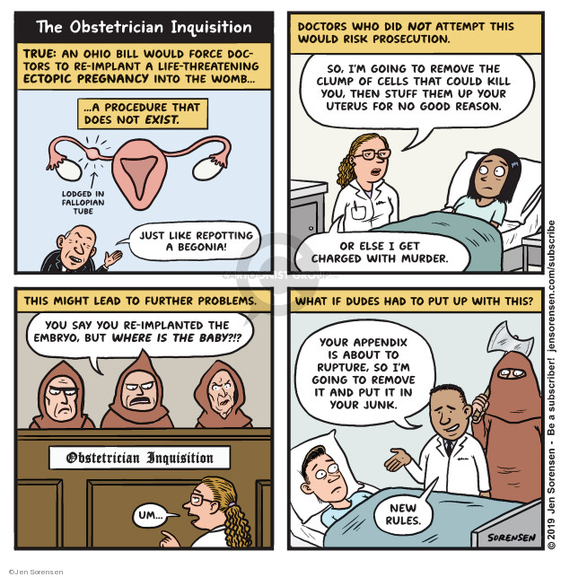 Cartoonist Jen Sorensen  Jen Sorensen's Editorial Cartoons 2019-12-16 state legislation