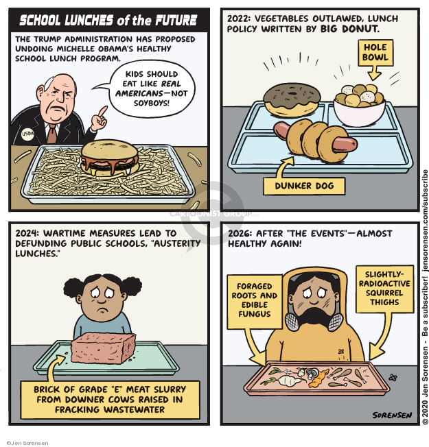 Cartoonist Jen Sorensen  Jen Sorensen's Editorial Cartoons 2020-01-20 eat