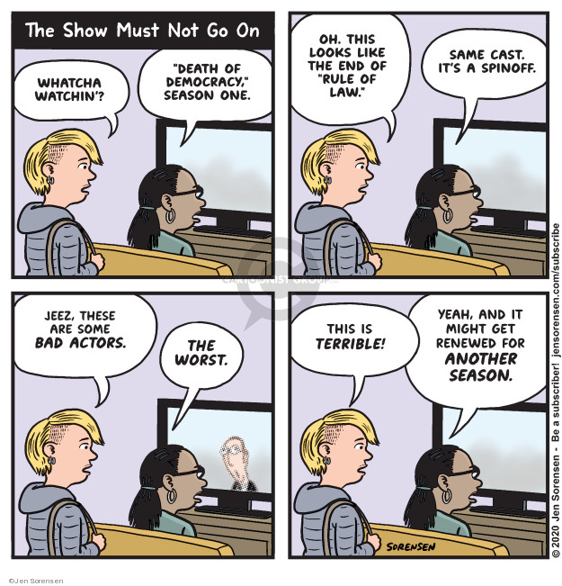 Jen Sorensen  Jen Sorensen's Editorial Cartoons 2020-01-27 rule of law