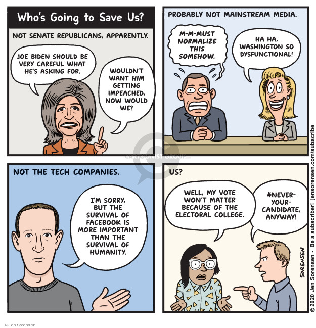Cartoonist Jen Sorensen  Jen Sorensen's Editorial Cartoons 2020-02-03 Facebook