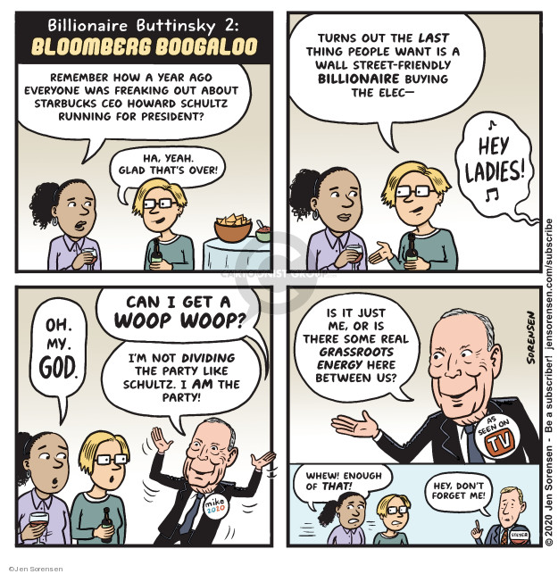 Cartoonist Jen Sorensen  Jen Sorensen's Editorial Cartoons 2020-02-17 democratic