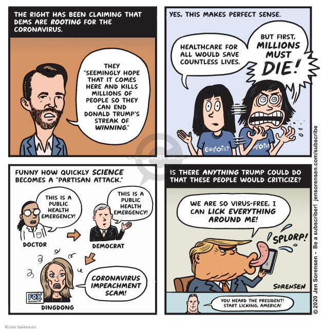Cartoonist Jen Sorensen  Jen Sorensen's Editorial Cartoons 2020-03-09 presidential impeachment