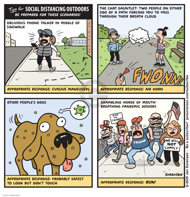 Cartoonist Jen Sorensen  Jen Sorensen's Editorial Cartoons 2020-04-28 stop