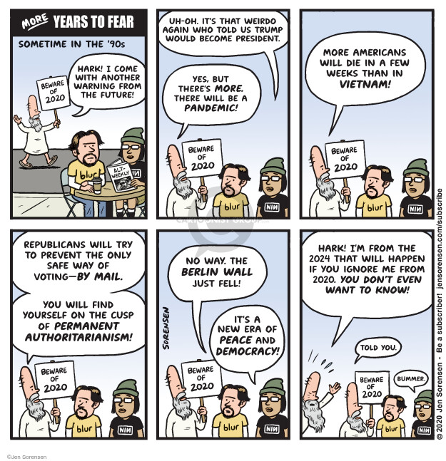 Jen Sorensen  Jen Sorensen's Editorial Cartoons 2020-05-05 democracy