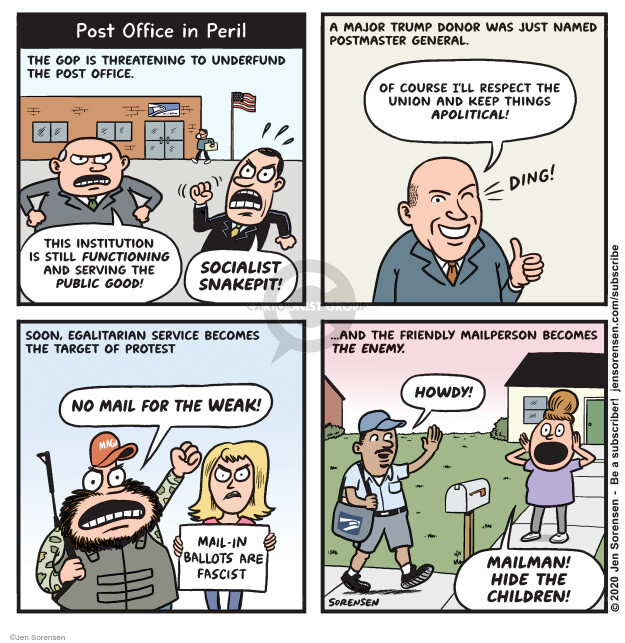 Cartoonist Jen Sorensen  Jen Sorensen's Editorial Cartoons 2020-05-11 2020 election
