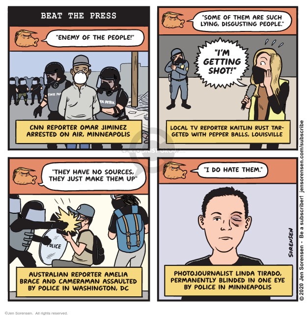 Jen Sorensen  Jen Sorensen's Editorial Cartoons 2020-06-02 Black Lives Matter