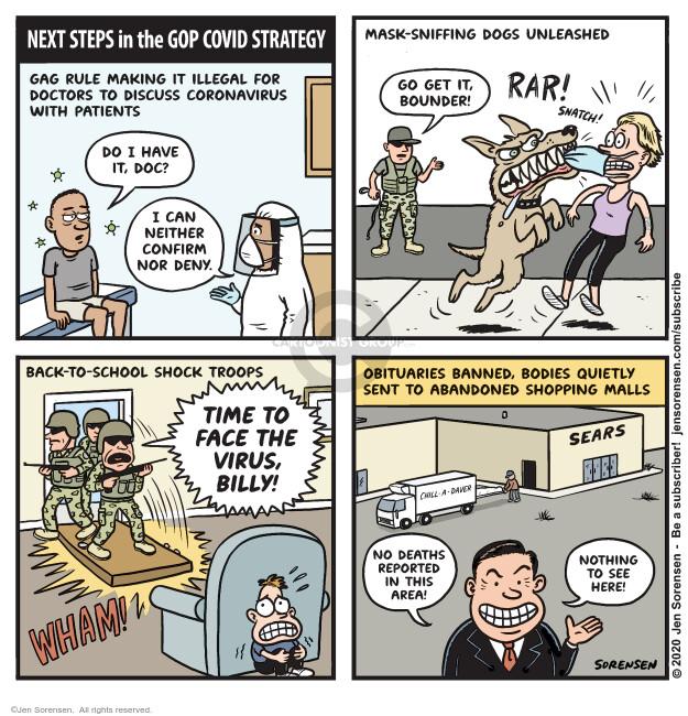 Jen Sorensen  Jen Sorensen's Editorial Cartoons 2020-07-21 Billy