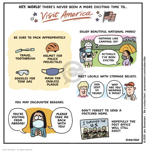 Jen Sorensen  Jen Sorensen's Editorial Cartoons 2020-07-28 disease