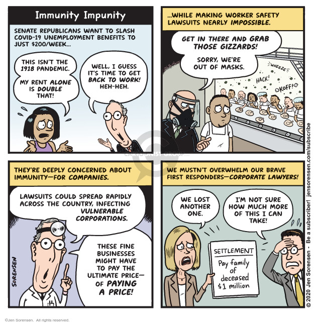 Jen Sorensen  Jen Sorensen's Editorial Cartoons 2020-08-04 unemployment