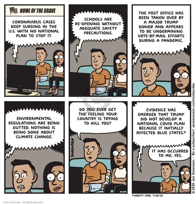 Jen Sorensen  Jen Sorensen's Editorial Cartoons 2020-08-11 disease