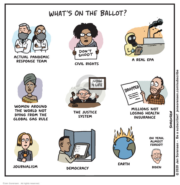 Jen Sorensen  Jen Sorensen's Editorial Cartoons 2020-10-06 Environmental Protection Agency