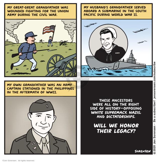 Jen Sorensen  Jen Sorensen's Editorial Cartoons 2020-11-03 World History