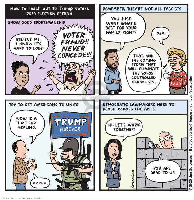 Jen Sorensen  Jen Sorensen's Editorial Cartoons 2020-11-09 voter fraud