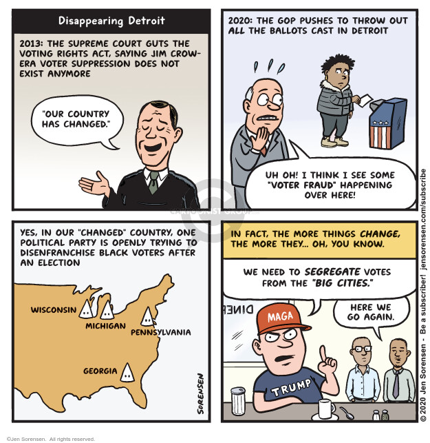 Jen Sorensen  Jen Sorensen's Editorial Cartoons 2020-11-24 2013