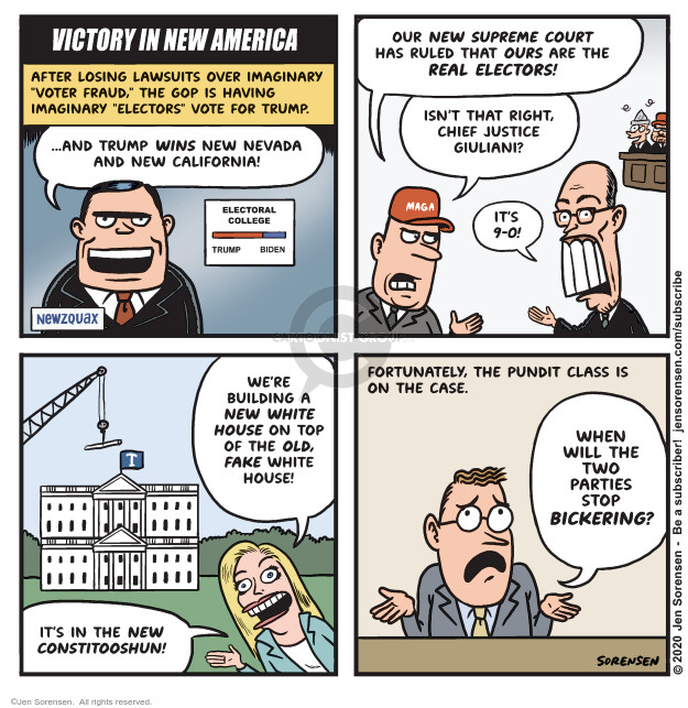 Jen Sorensen  Jen Sorensen's Editorial Cartoons 2020-12-15 Donald Trump Joe Biden