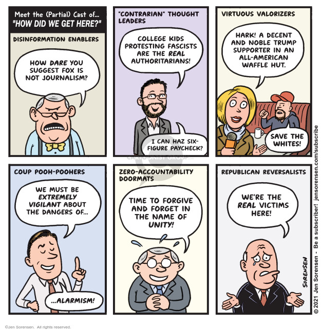 Jen Sorensen  Jen Sorensen's Editorial Cartoons 2021-01-11 journalism
