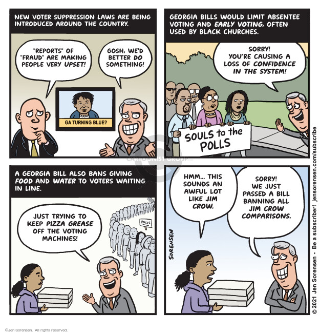 Jen Sorensen  Jen Sorensen's Editorial Cartoons 2021-03-09 voting rights